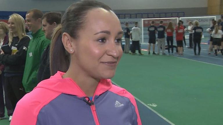 Jessica Ennis-Hill: Olympic champion looks to inspire kids in Sheffield.