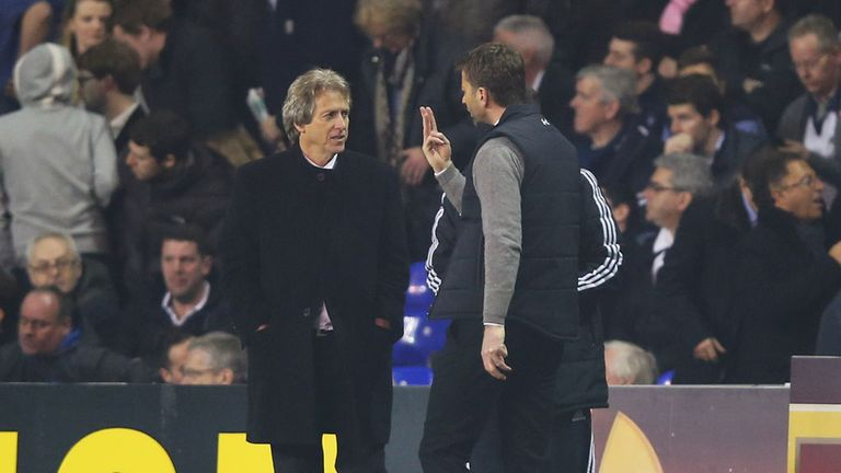 Tim Sherwood and Jorge Jesus: Clashed last week