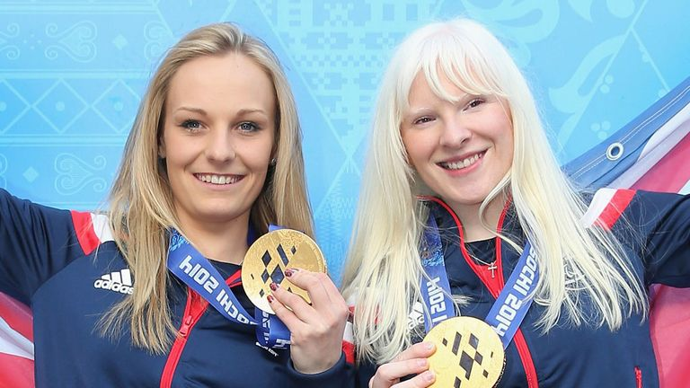 Kelly Gallagher and her guide Charlotte Evans claimed Britain's first gold medal on snow in Sochi
