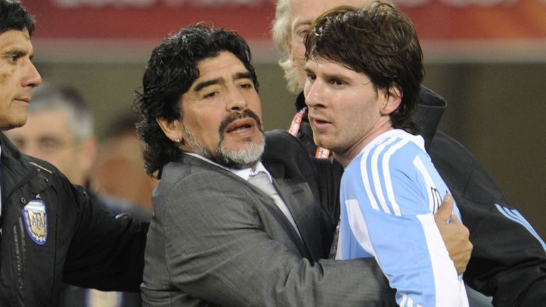 Maradona and Messi experience World Cup despair in Cape Town four years ago