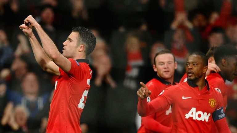 Robin van Persie: Hat-trick against Olympiakos secured Manchester United's place in the Champions League quarter-finals