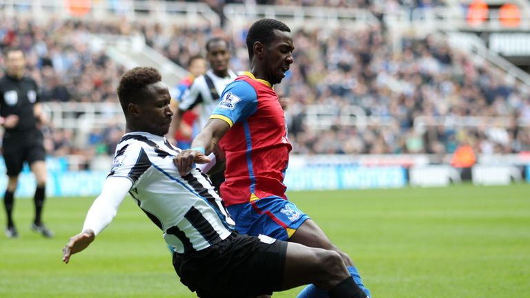 Yannick Bolasie in action in the 1-0 defeat against Newcastle on Saturday