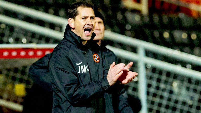Jackie Mcnamara: Dundee United boss was pleased with his team