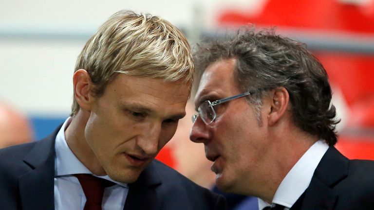 Laurent Blanc: Got the better of Sami Hyypia over both legs