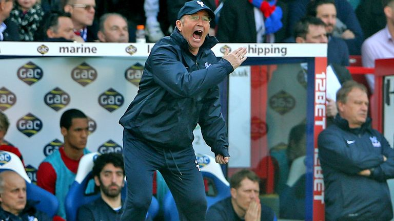 Tony Pulis: Squad rebuilding on hold until Crystal Palace are safe