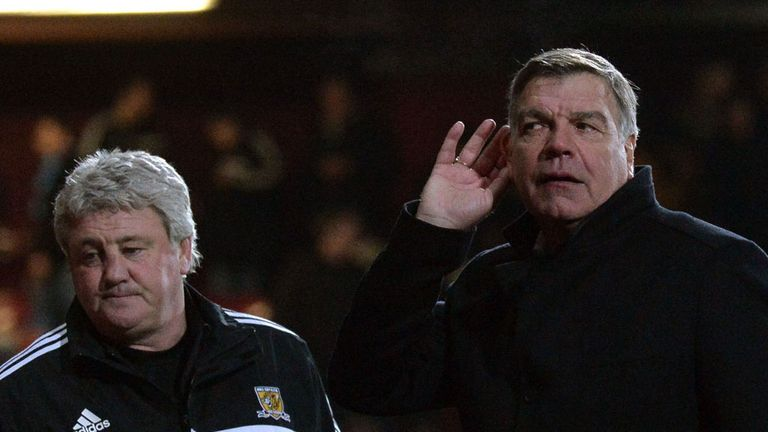 Sam Allardyce: Reacts after West Ham's win over Hull last week