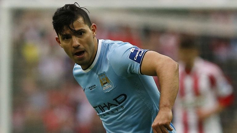 Sergio Aguero: Argentine striker set to start against Barcelona