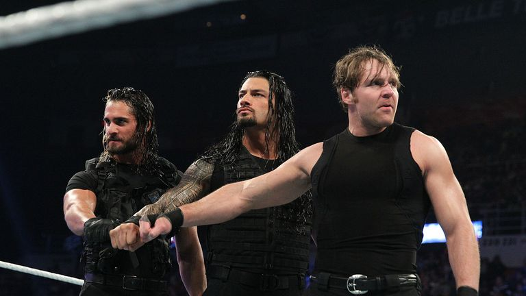 Terrific trio: Rollins (L), Reigns (M) and Ambrose (R) have dominated WWE