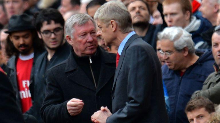 Arsene Wenger and Sir Alex Ferguson: At The Emirates last April