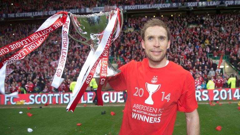 Russell Anderson: Aberdeen captain with the Scottish League Cup