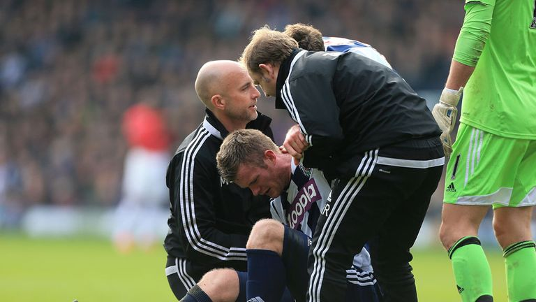 Chris Brunt picked up the injury during the defeat to Manchester United