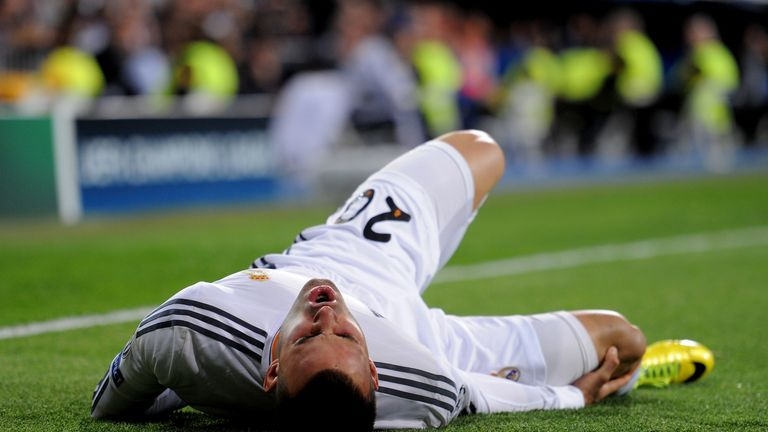 Jese: Injured during Real Madrid's Champions League clash with Schalke