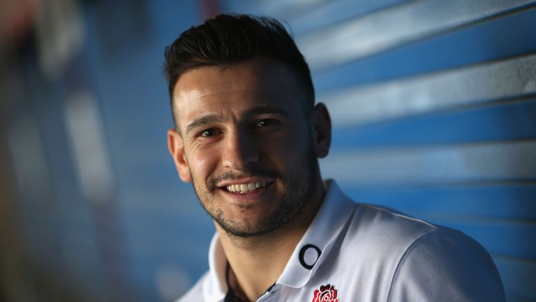 Danny Care during the England media access at Twickenham Stadium