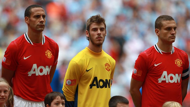 Young De Gea lines up for his United debut