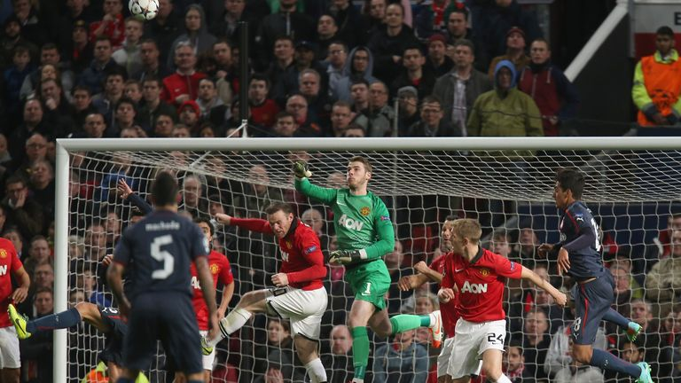 David de Gea: Helped his side draw 1-1 with Bayern Munich