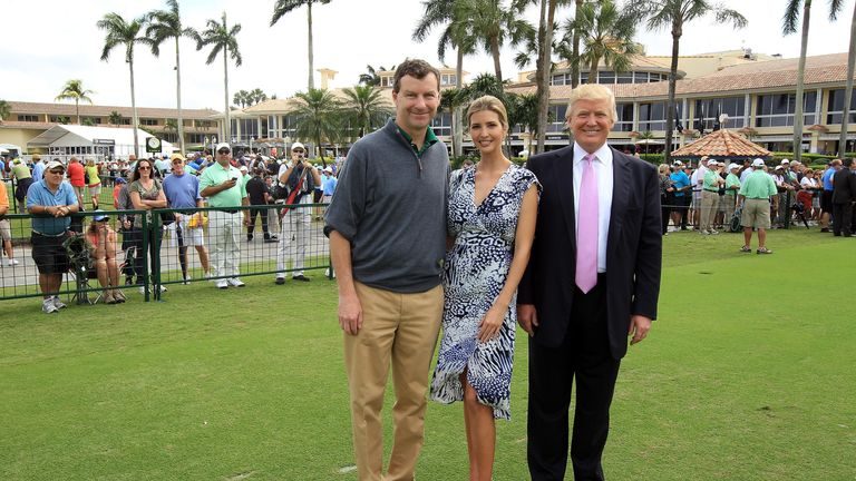 Donald Trump, Ivanka Trump and Gil Hanse at Doral
