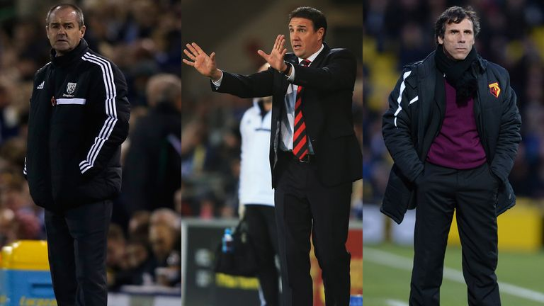 Steve Clarke, Malky Mackay and Gianfranco Zola: Nottingham Forest keen on trio
