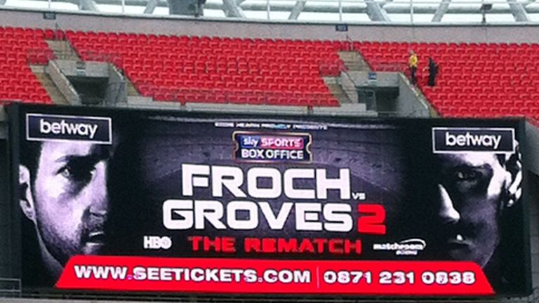 Froch had never been to Wembley... his face got there first!