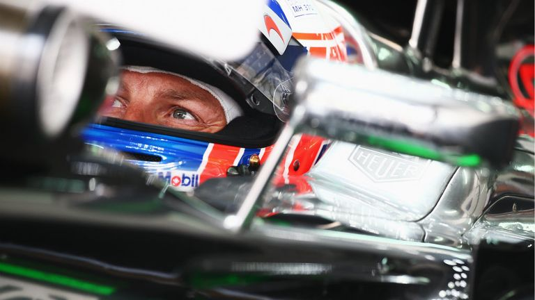 Jenson Button: Seven tenths off Mercedes' pace in P2