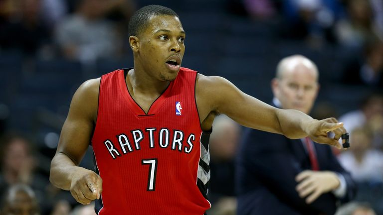 Kyle Lowry: Scored 25 points for the Toronto Raptors
