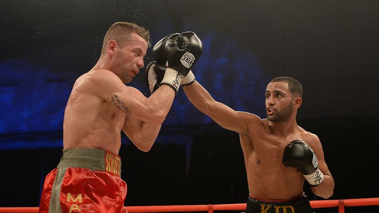Kid Galahad: defeated Sergio Prado for the vacant European title (photo credit: Leigh Dawney)