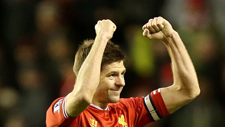Steven Gerrard: Liverpool captain is hoping to win his first league title this season