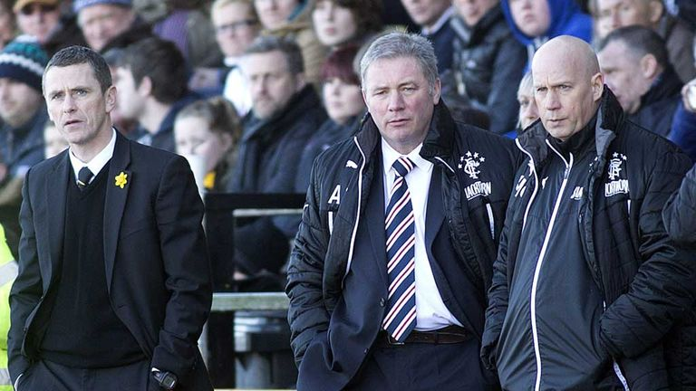 Gary Naismith and Ally McCoist: Bosses on the touchline at East Fife