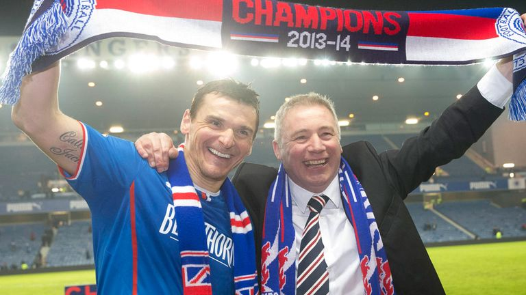 Ally McCoist: Celebrating League One title with skipper Lee McCulloch
