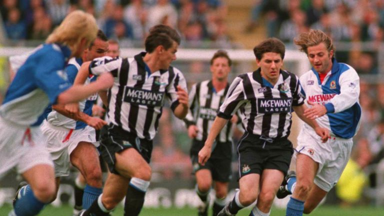 Peter Beardsley was an integral part of Newcastle entertaining 1993/94 side