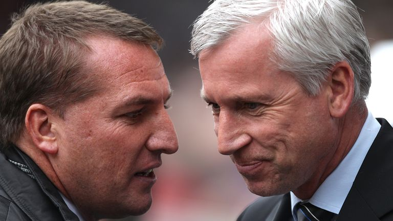 Brendan Rodgers and Alan Pardew: Ready to lock horns