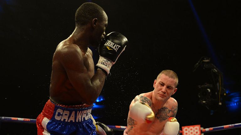 Burns struggled to find his range as Crawford swiftly switched from southpaw to orthodox throughout the contest