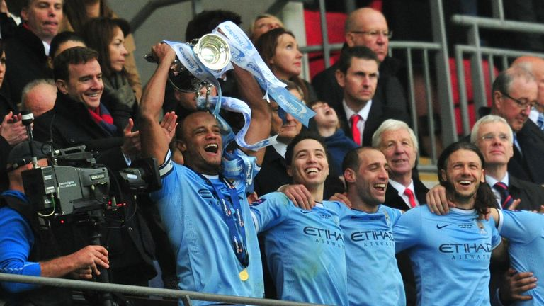 Manchester City lifted the Capital One Cup trophy at Wembley on Sunday