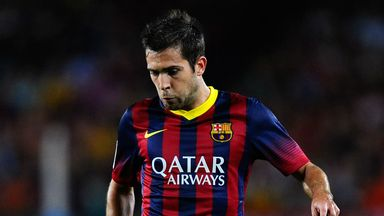 Jordi Alba: Setting his sights on the Champions League quarter-finals