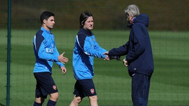 Tomas Rosicky: Determined to impress Arsene Wenger and get back into the Arsenal side on a regular basis