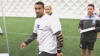 Gael Clichy at official launch of 'City in the Community' roadshow