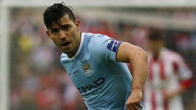 Sergio Aguero: Waiting on the results of a scan on his hamstring