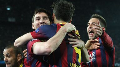 Lionel Messi: Happy with Barca's display against Manchester City