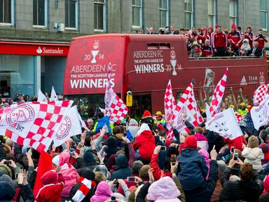 Aberdeen parade the Scottish League Cup