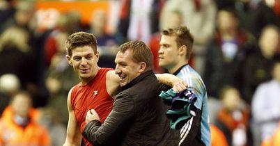 Steven Gerrard (l): A big fan of Brendan Rodgers