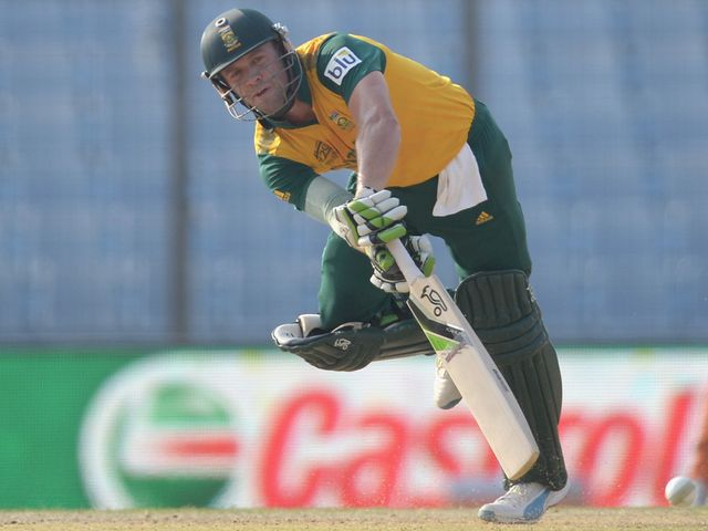 AB de Villiers: Hit fellow South African Dale Steyn for three sixes in the 19th over
