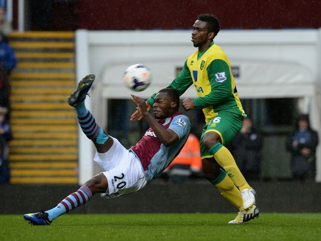 Christian Benteke scores his first goal