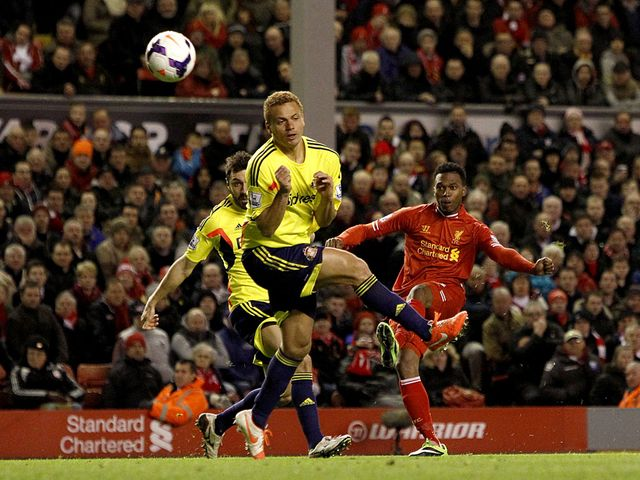 Daniel Sturridge scores his goal for Liverpool