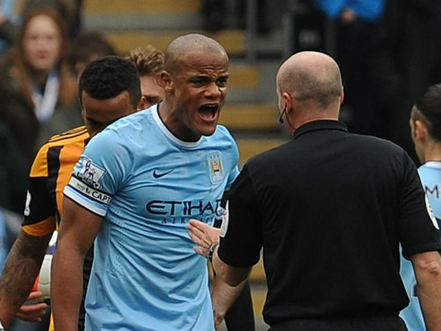 Kompany: Back from his ban having been red-carded at Hull