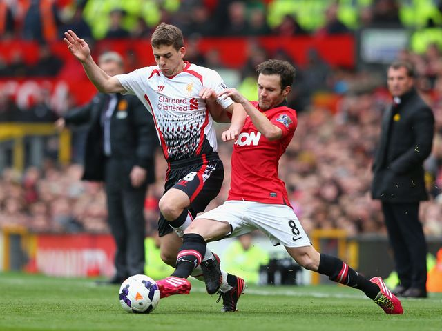 Juan Mata tries to stop Jon Flanagan