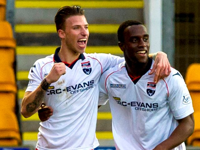 Ross County celebrate against St Johnstone