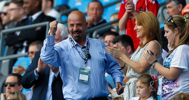 Marwan Koukash (left) pictured with wide Mandy at last year's Magic Weekend in Manchester