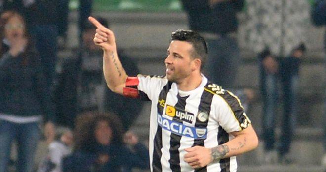 Antonio Di Natale celebrates his match-winner