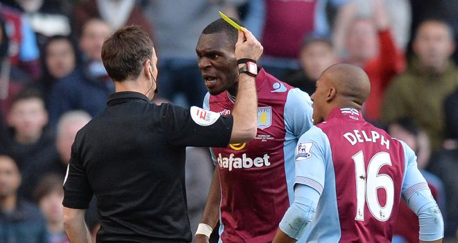 Benteke: The Villa striker opened the scoring but it was then a frustrating afternoon