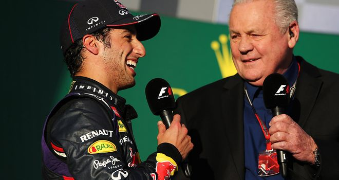 Ricciardo on the Melbourne podium