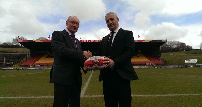 Bradford Bulls: starting new era under ownership of Marc Green (right)